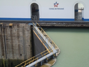 Miraflores Lock Right Before Opening