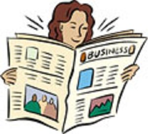 Woman_reading_newspaper_clipart