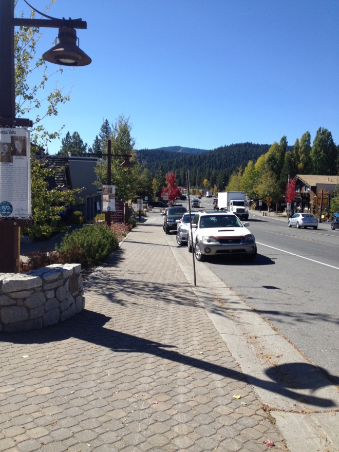 View of the Sierras from Downtown Tahoe City