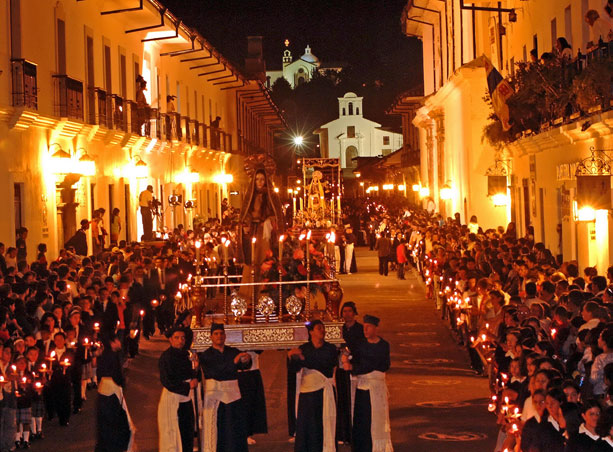 One of the Holy Week Processions in Popayán, Colombia