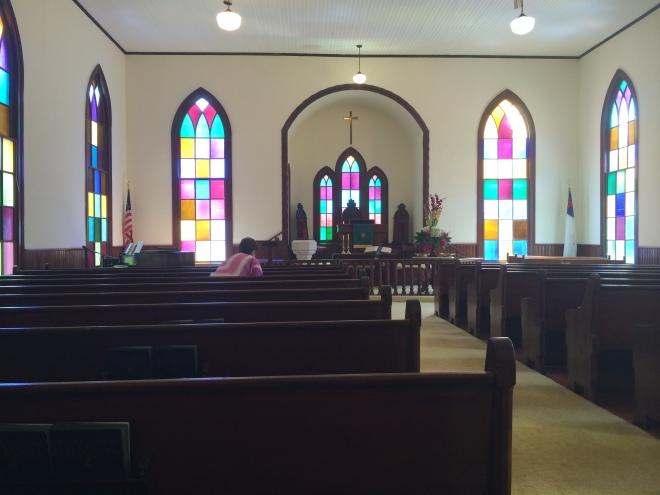 The Sanctuary of Lowndesboro Methodist Church