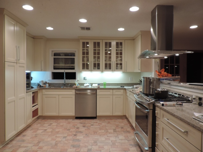 Our new kitchen minus the island the Mallowman's going to build