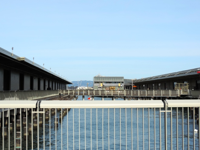 One of the piers along the Embarcadero