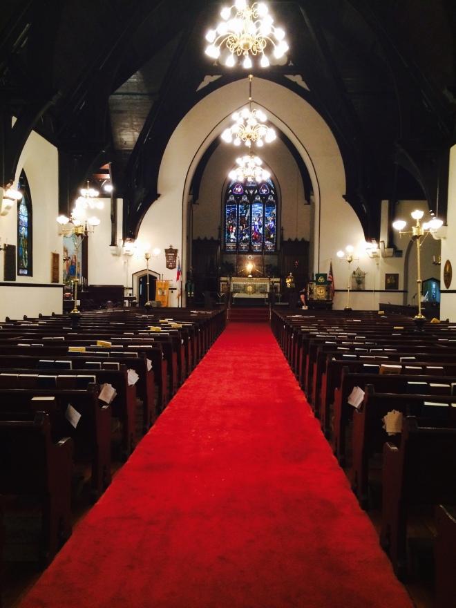 The nave at St. Paul's, Selma