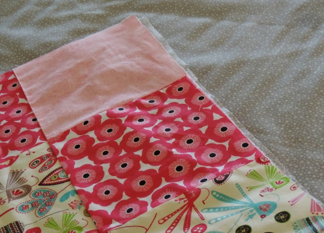 All that's missing now is the actual quilting and the binding.